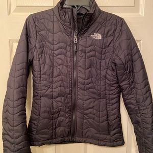 Black Northface jacket full zip ladies small